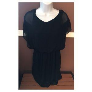 Lush Juniors Black Dress Medium